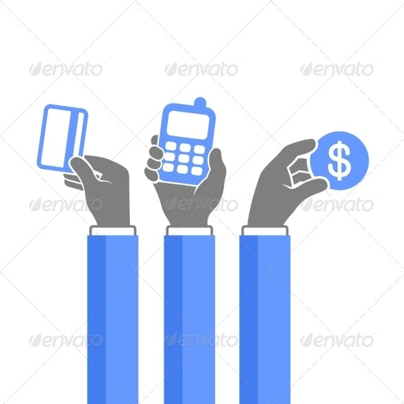 Online Payment Methods Icons Set. Vector - Web Technology