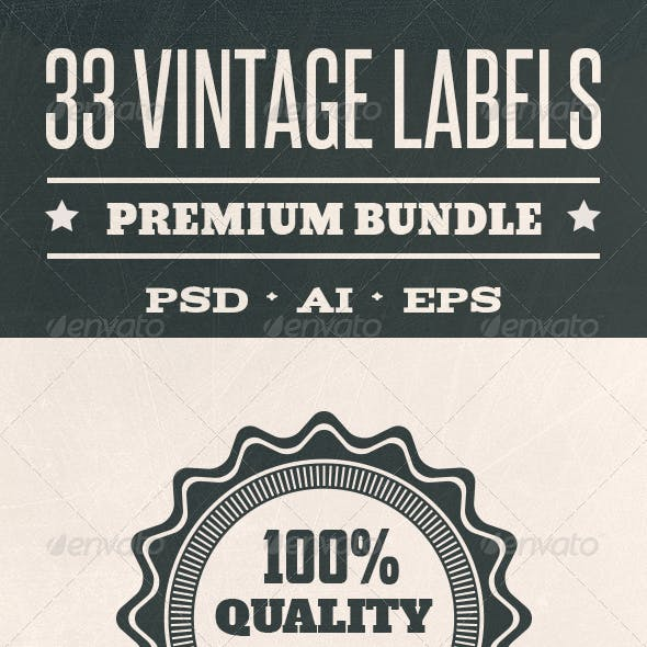 33 Vintage Labels