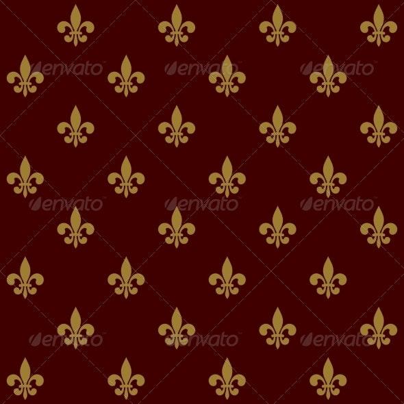 Fleur de Lis Background - Patterns Decorative