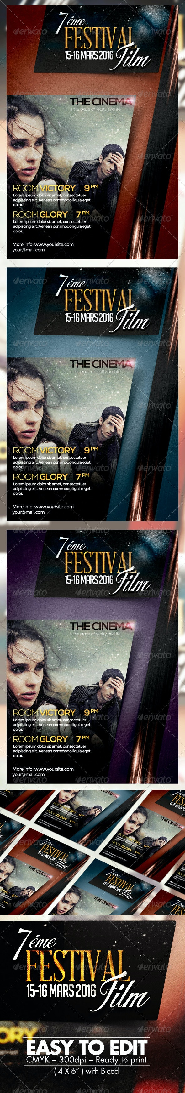 Festival Film Flyer Template - Events Flyers