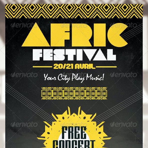 Africa Festival Flyer