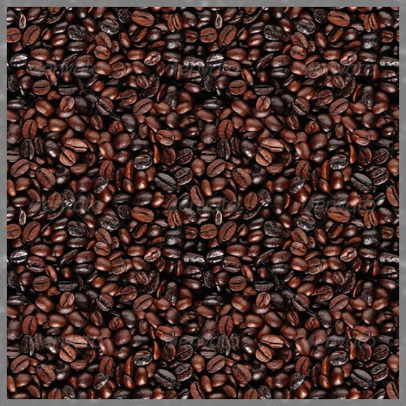 Seamless Coffee Beans Texture