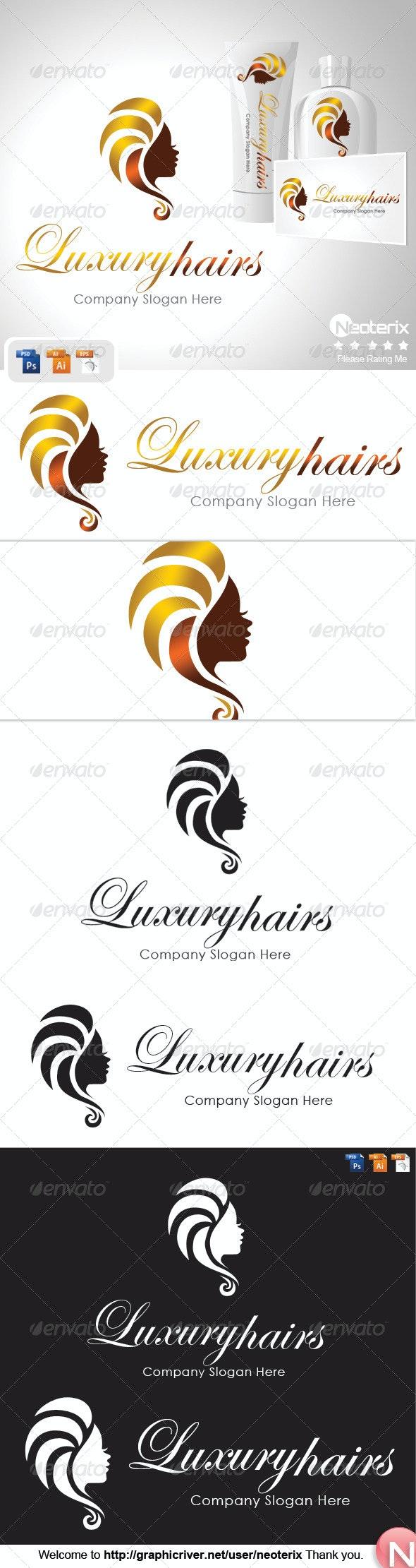 Luxury Hairs - Humans Logo Templates