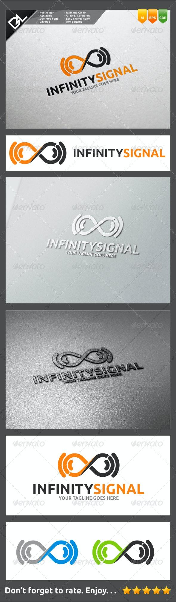 Infinity Signal - Symbols Logo Templates