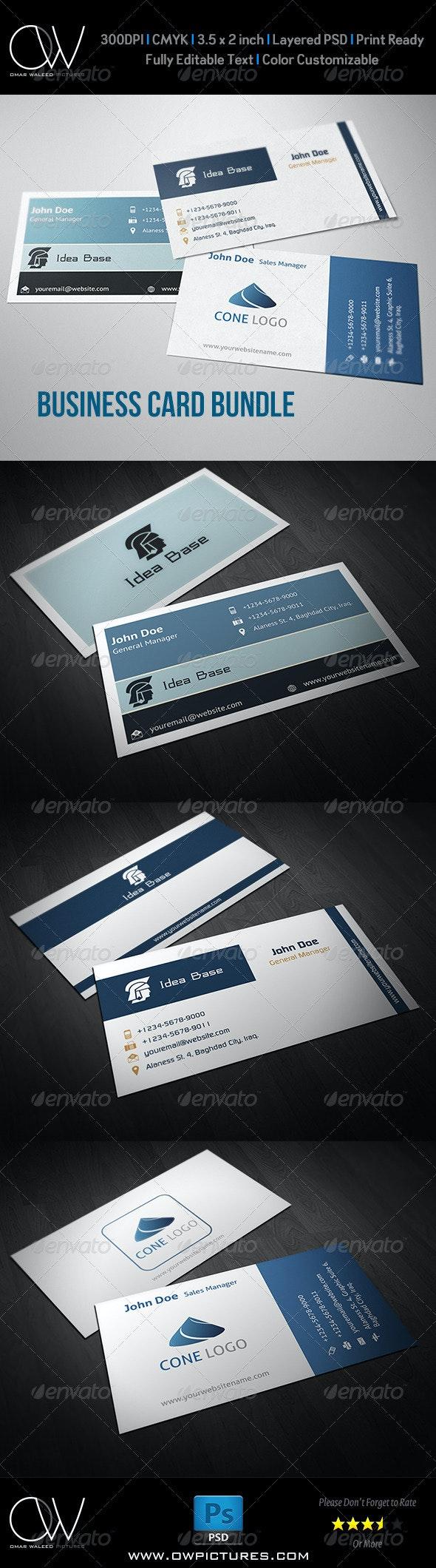 Corporate Business Card Bundle Vol.1 - Corporate Business Cards