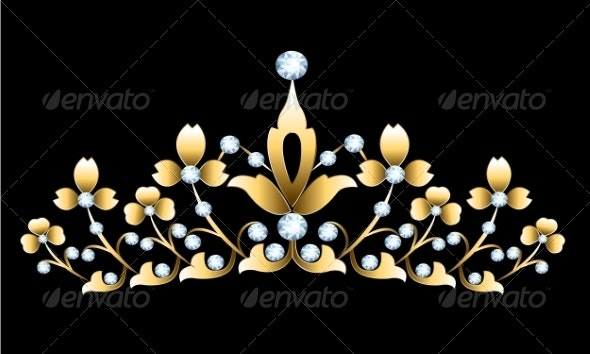 Golden Tiara - Man-made Objects Objects