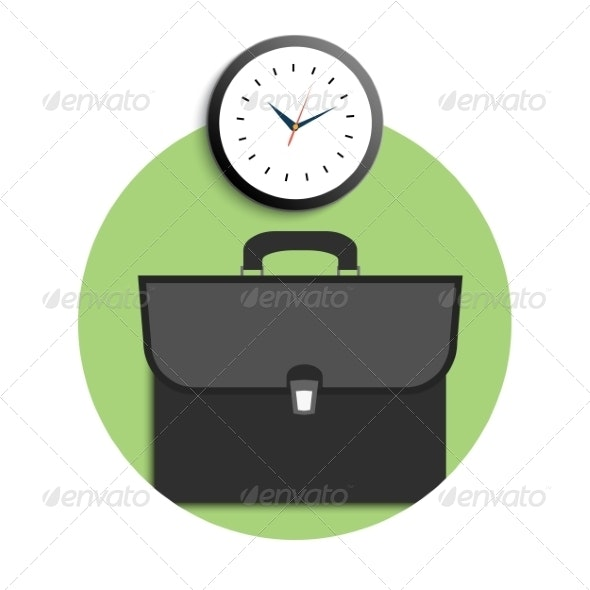 Briefcase and Clock - Concepts Business