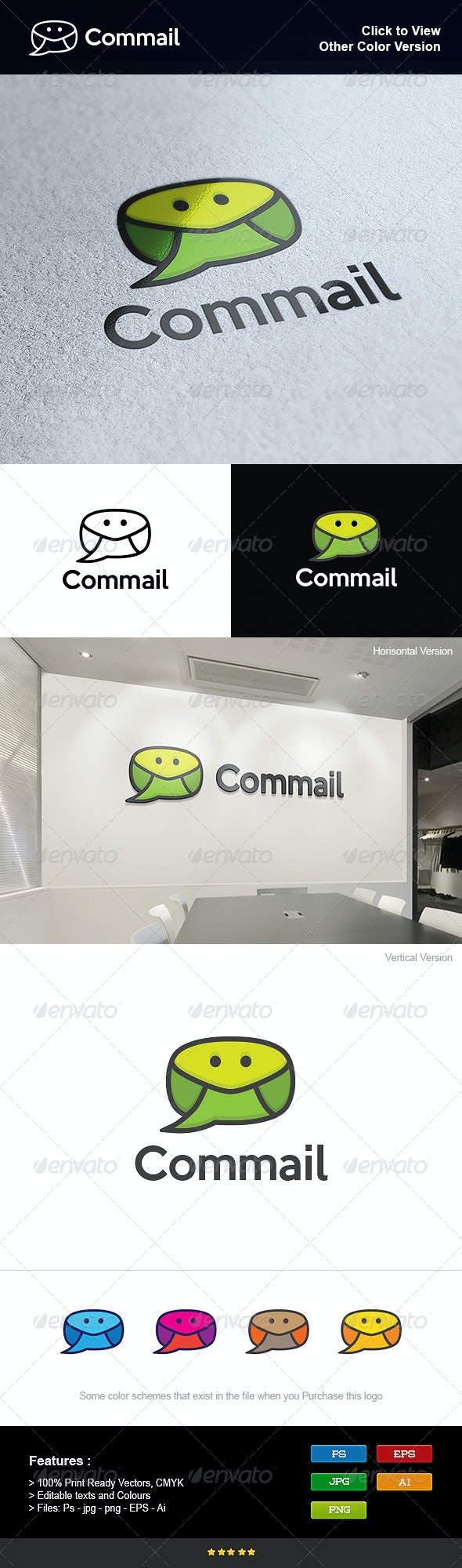 Mail Communications App - Symbols Logo Templates