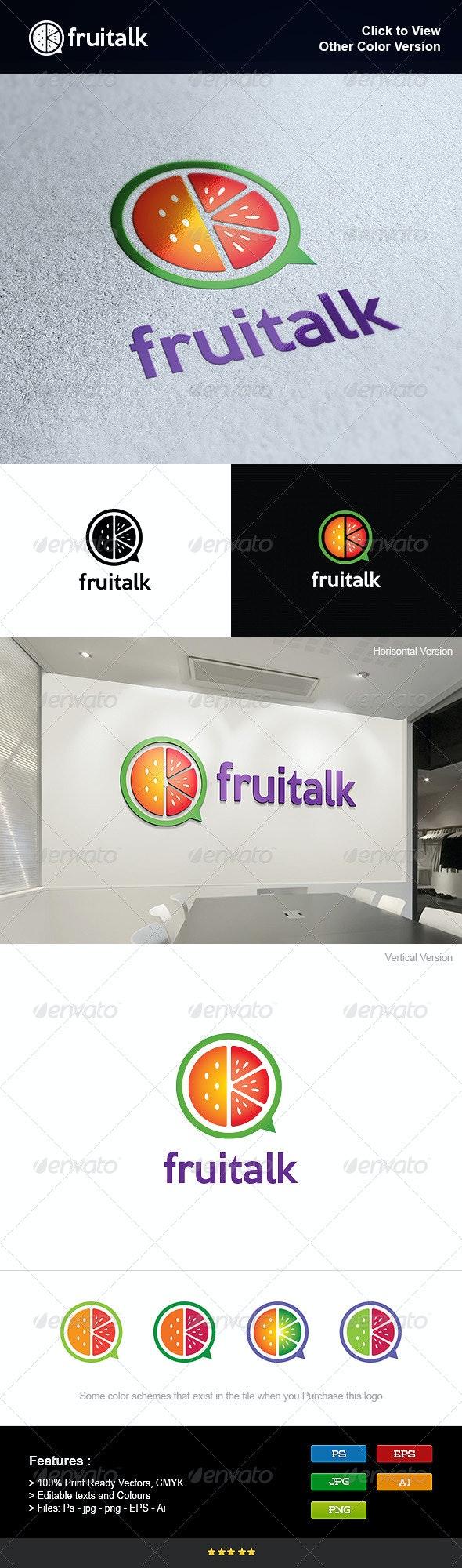 Fruit Talk - Nature Logo Templates
