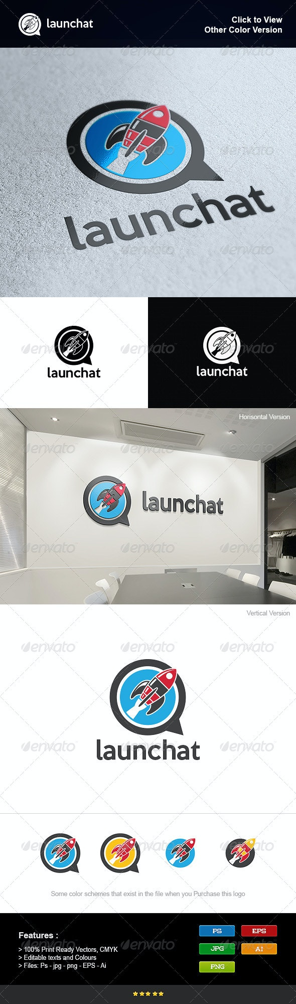 Rocket Launches - Objects Logo Templates