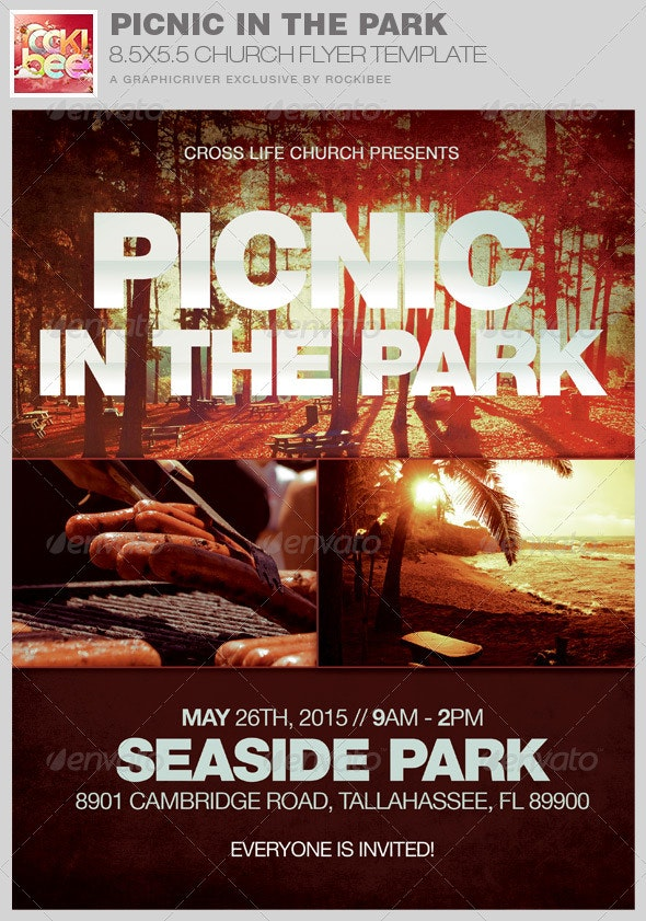 Picnic in the Park Flyer Template - Church Flyers