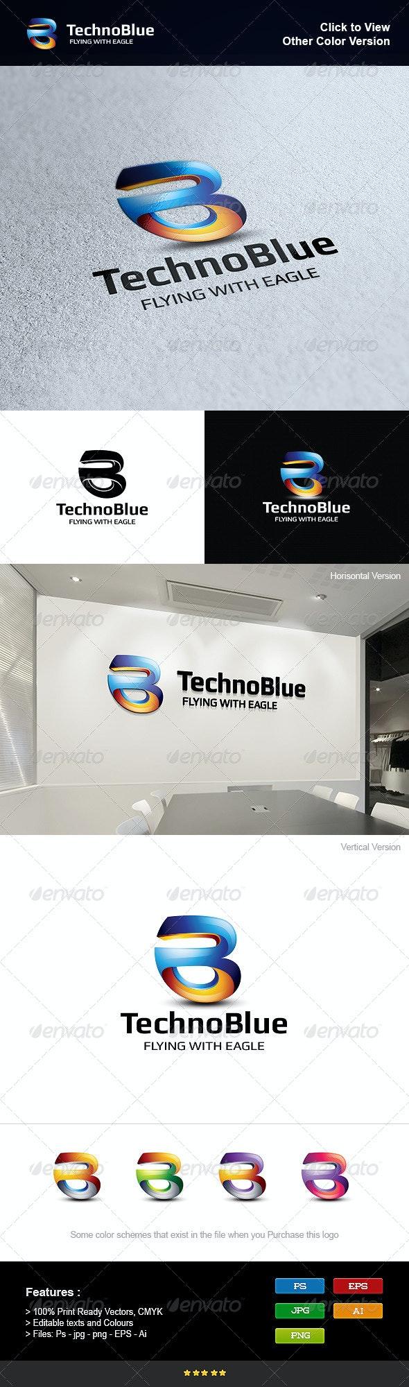 Letter B Blue - Letters Logo Templates