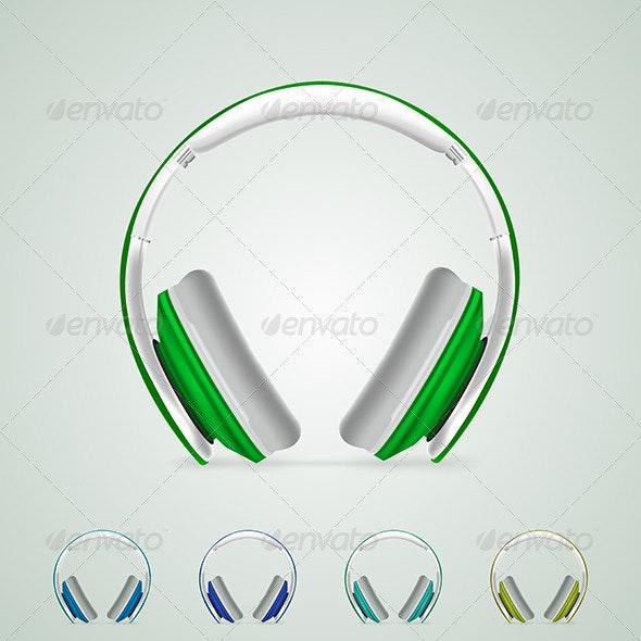Illustration of Headphones - Media Technology