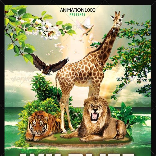 Wildlife Flyer Template PSD