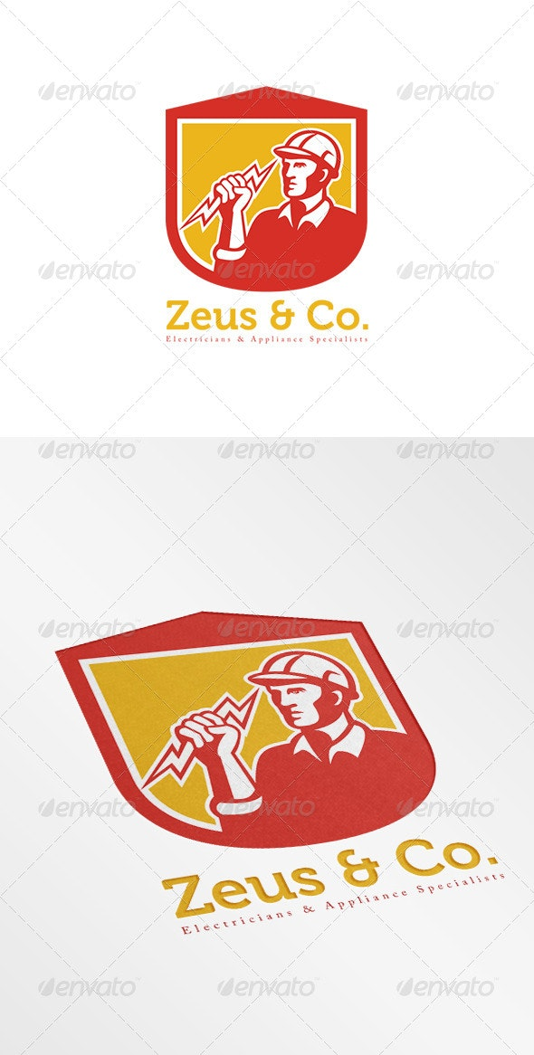 Zeus Electricians Logo - Humans Logo Templates