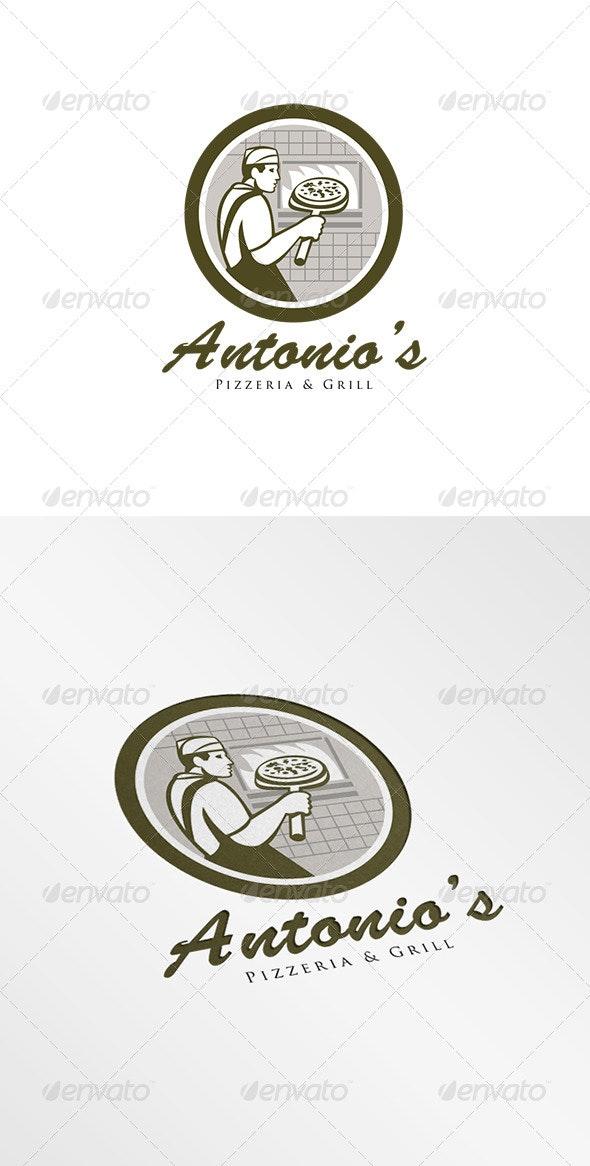 Antonio's Pizzeria Logo - Humans Logo Templates
