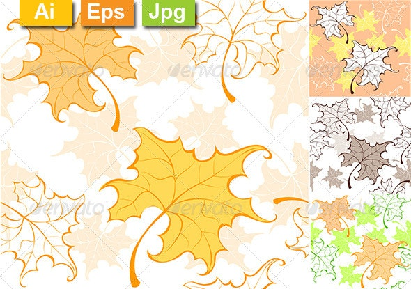 Pattern from Autumn Leaves - Patterns Decorative