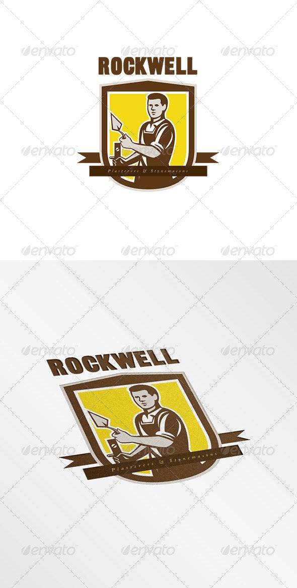 Rockwell Plasterers and Stonemasons Logo - Humans Logo Templates