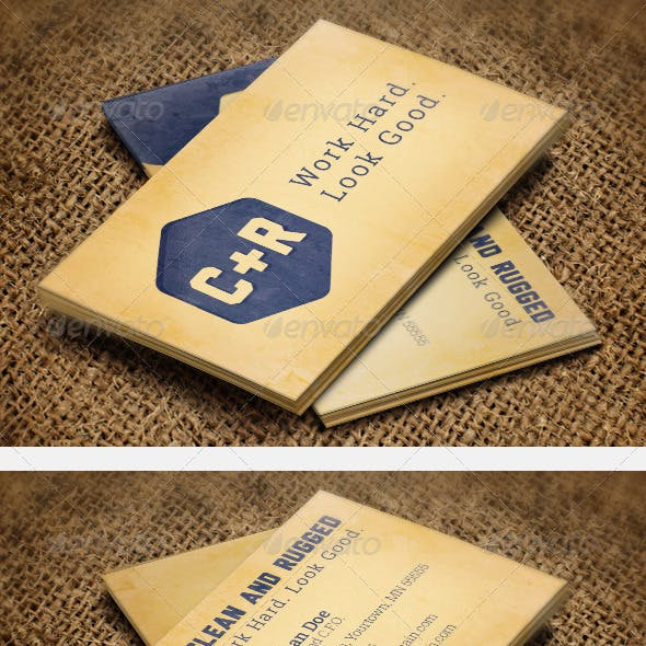 Clean Rugged Business Cards