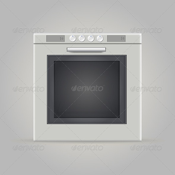 Illustration of Oven - Man-made Objects Objects