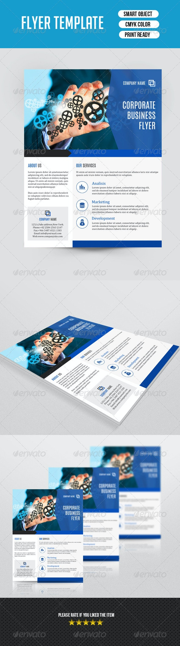 Corporate Flyer Template-V83 - Corporate Flyers
