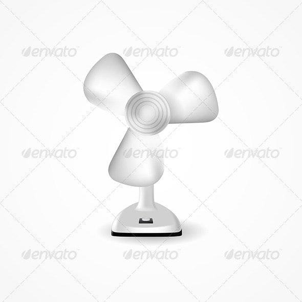 Illustration of Fan - Man-made Objects Objects