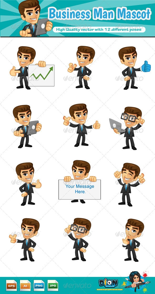 Business Man Mascot - People Characters