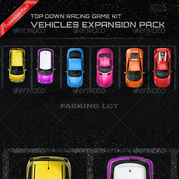 Top Down Racing Game Kit - Vehicles Expansion Pack