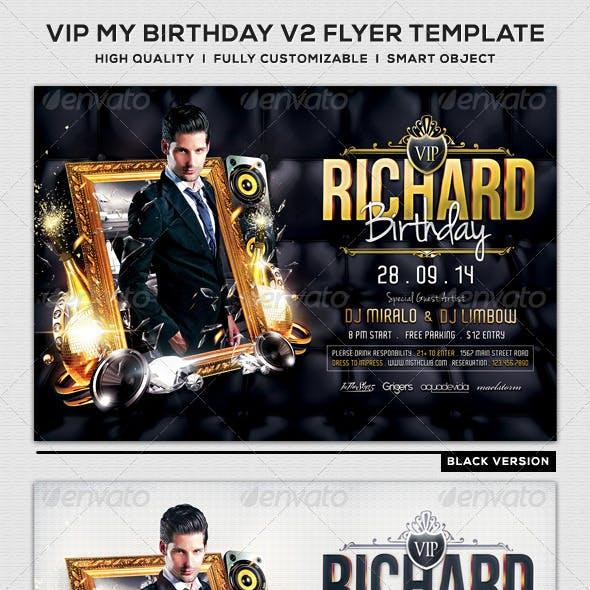 VIP My Birthday V2 Flyer Template