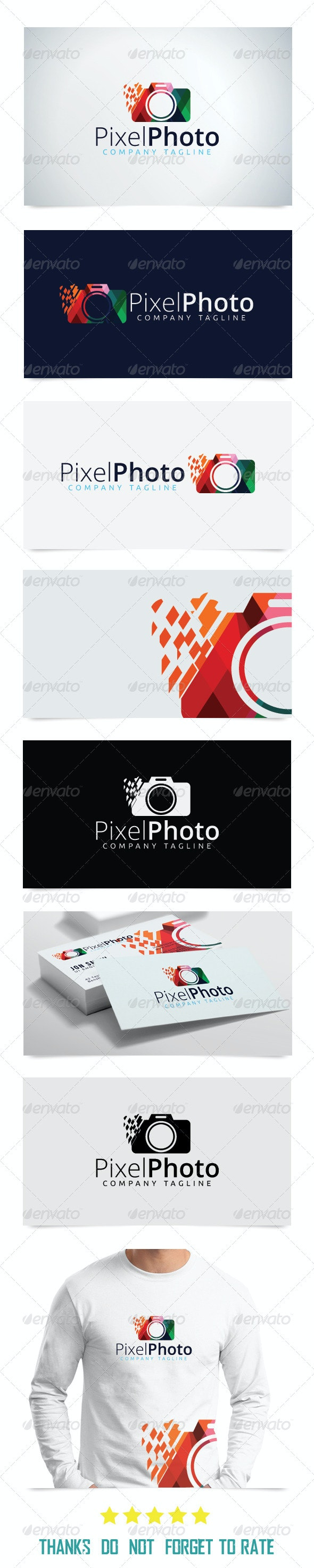 Pixel Media Logo Template - Abstract Logo Templates