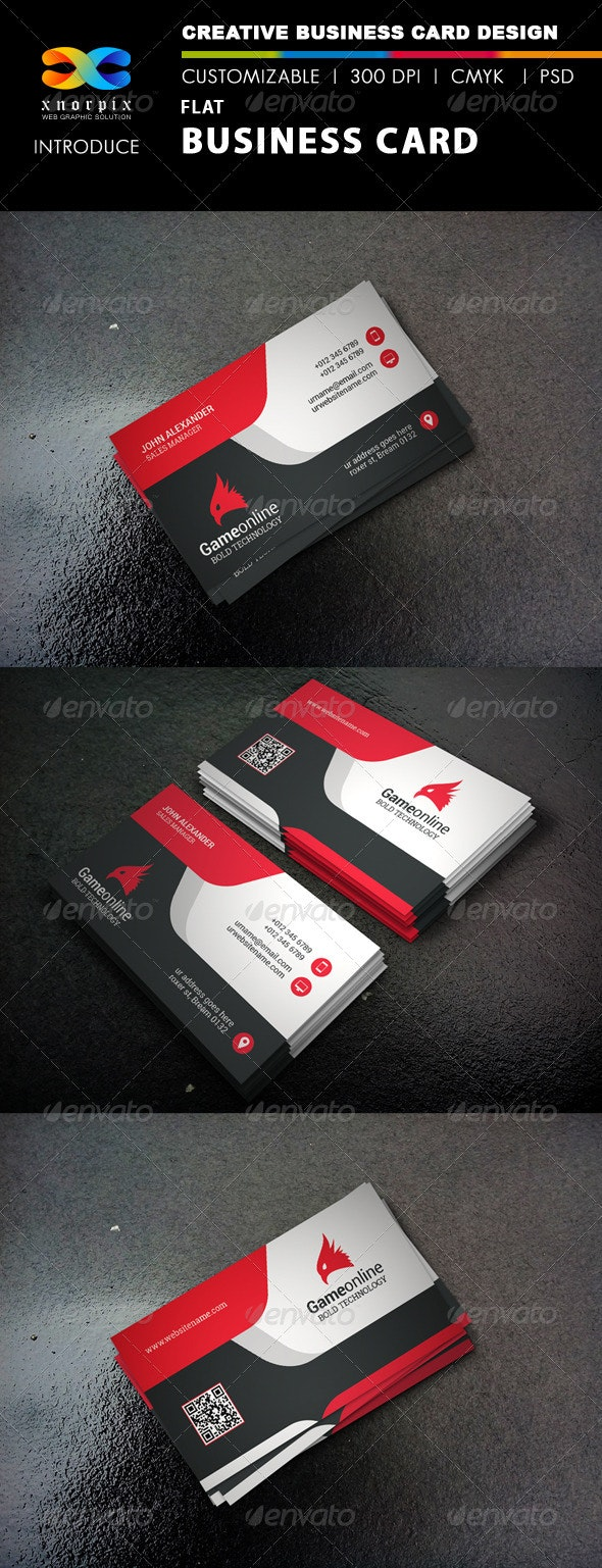 Flat Business Card - Corporate Business Cards