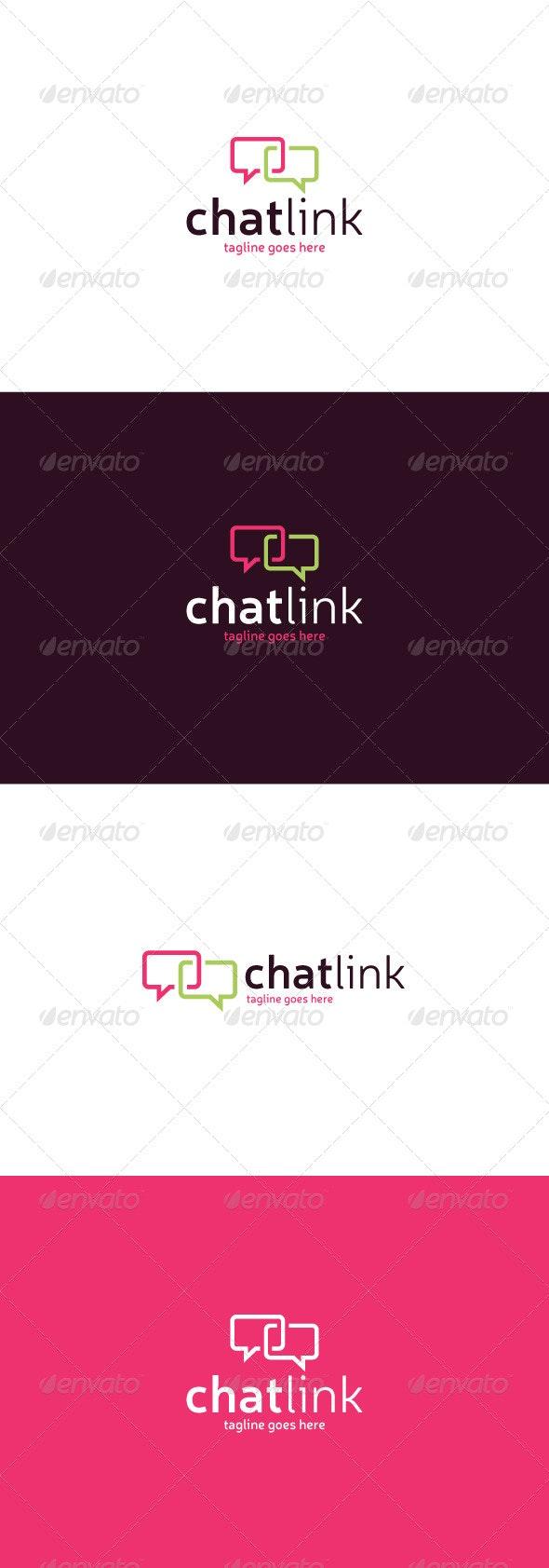Chat Link Logo - Symbols Logo Templates
