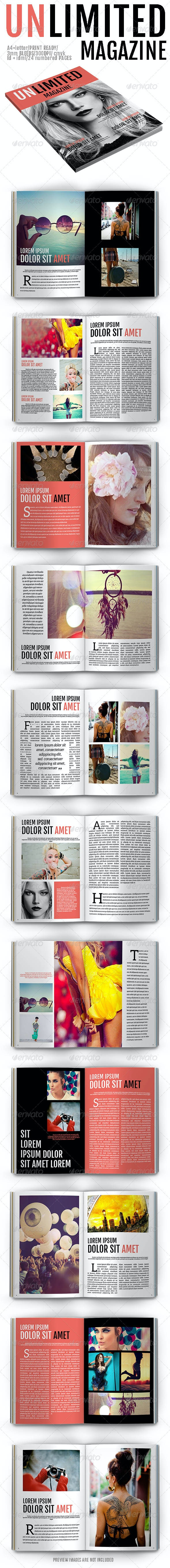 Unlimited Magazine - Magazines Print Templates