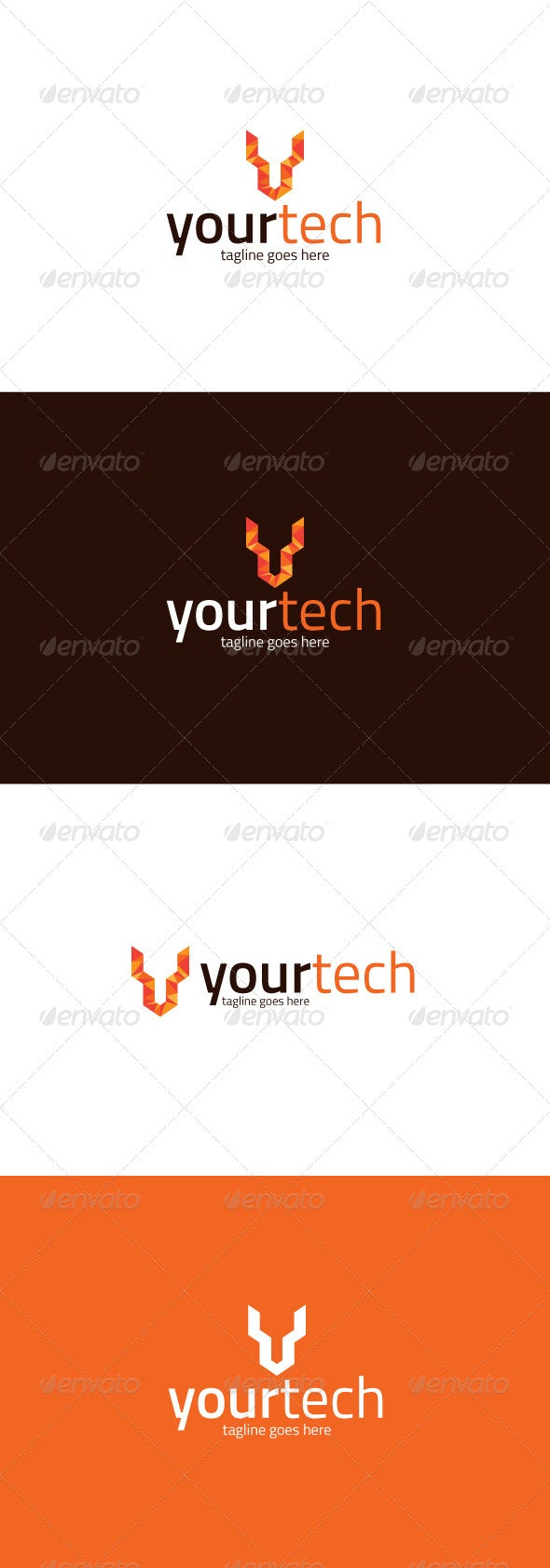 Your Tech Logo — Letter Y - Letters Logo Templates