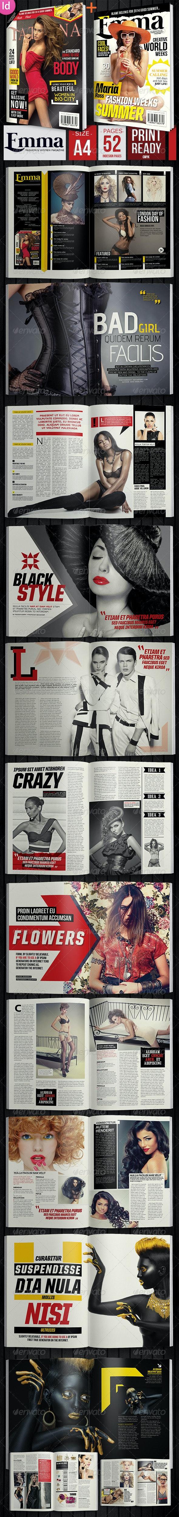 Emma Fashion Magazine + 2 Covers - Magazines Print Templates