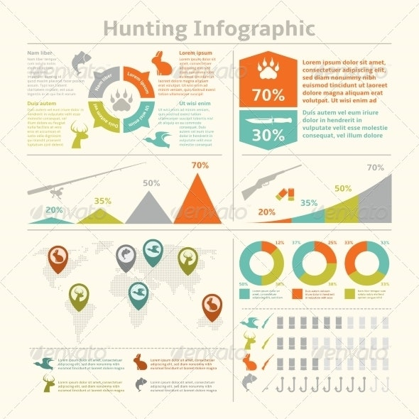 Hunting Infographics - Sports/Activity Conceptual