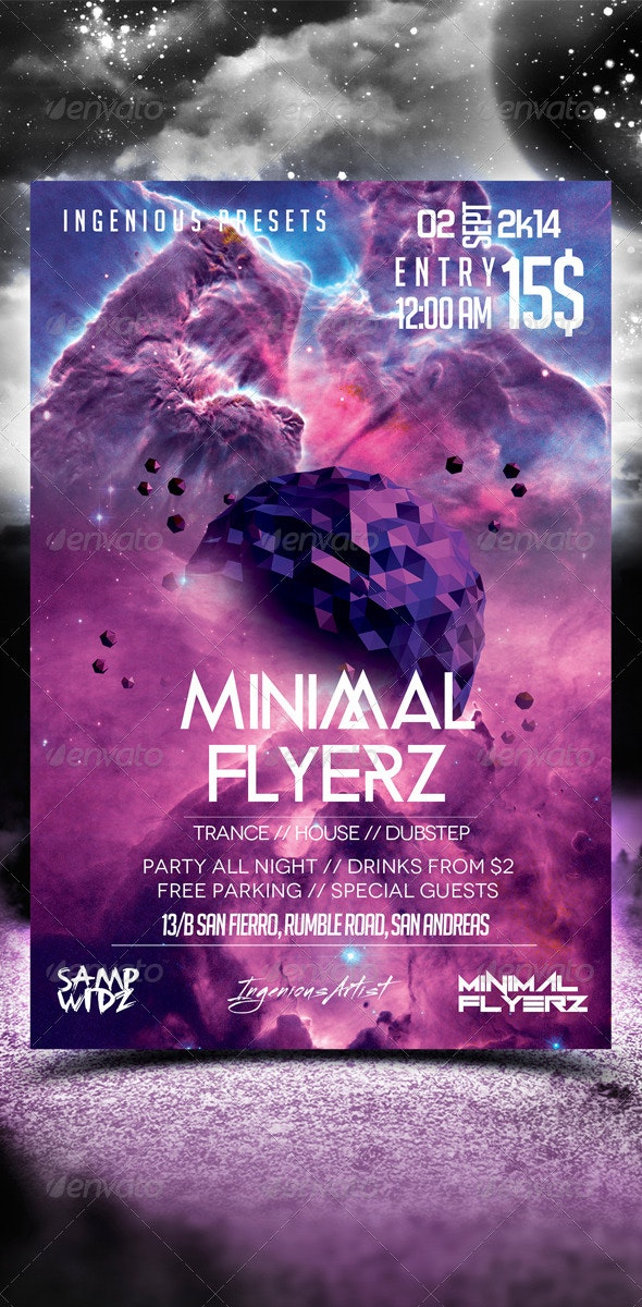 Minimal Flyer Vol.13 - Clubs & Parties Events