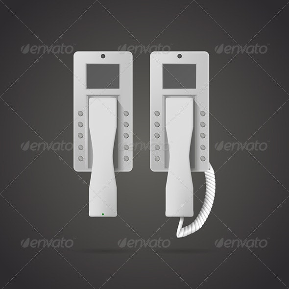 Illustration of Landline Phone - Communications Technology