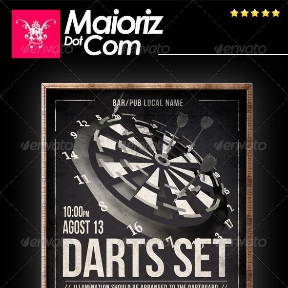 Vintage Darts Flyer