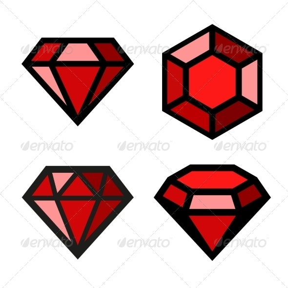 Ruby Vector Icons Set - Miscellaneous Icons