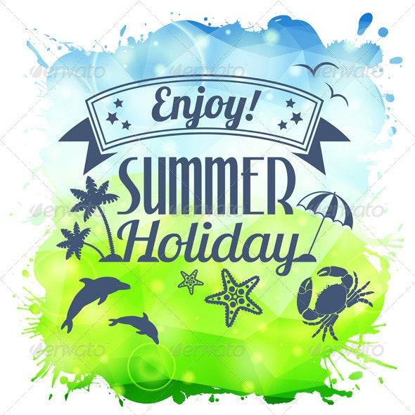 Summer Poster - Travel Conceptual