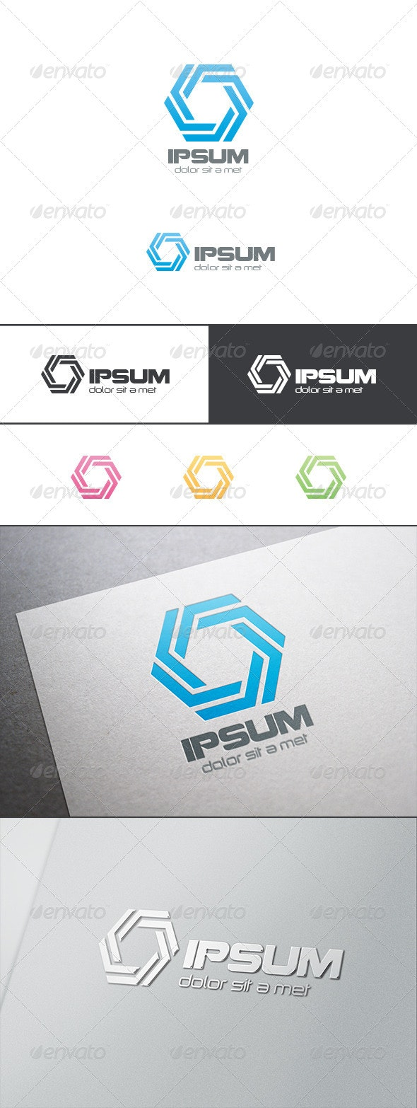 Hexagon Infinity Loop Logo - Abstract Logo Templates