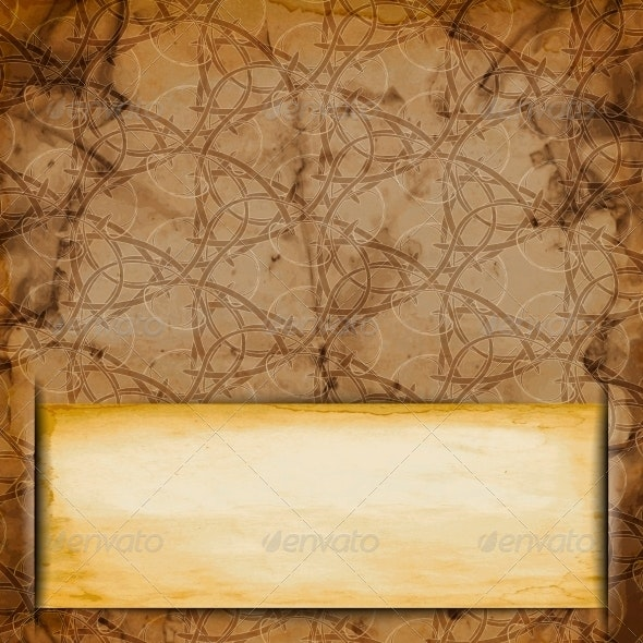 Abstract Old Grungy Paper Background with Texture  - Patterns Decorative