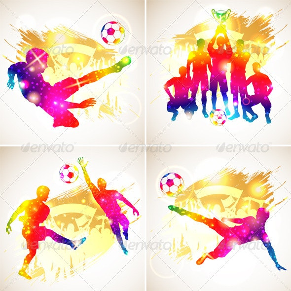 Soccer Silhouette - Sports/Activity Conceptual