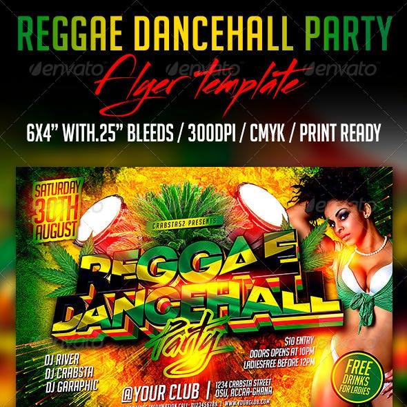 Reggae Dancehall Party Flyer Template