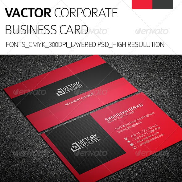 Vactor & Corporate Business Card
