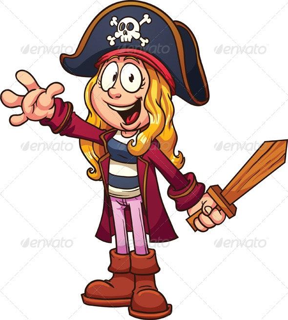 Pirate Girl - Characters Vectors