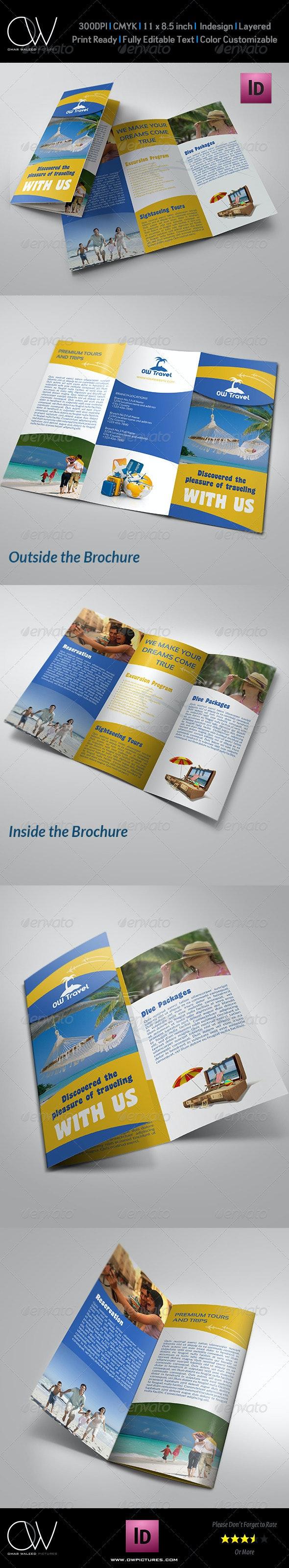 Travel Company Tri Fold Brochure Template - Informational Brochures