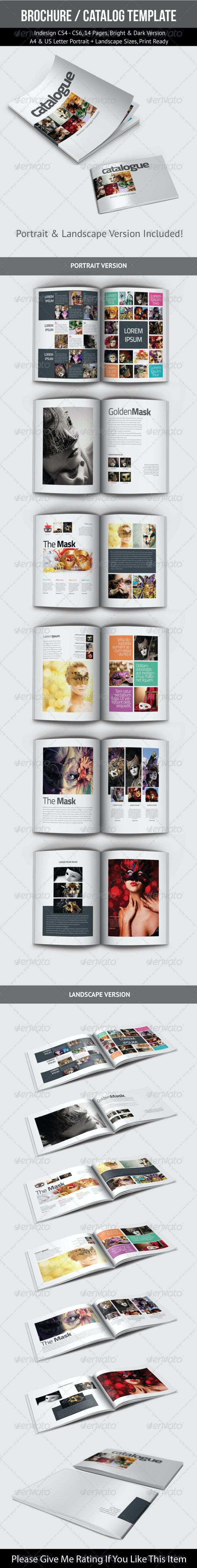 Brochure / Catalog Template - Brochures Print Templates