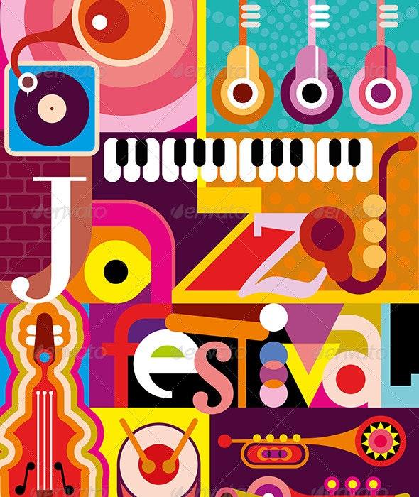 Jazz Festival - Decorative Vectors